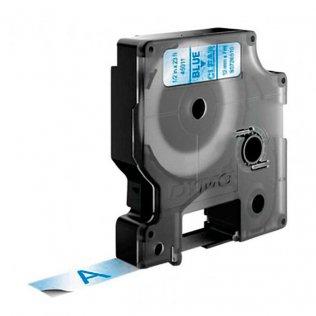 Cinta Dymo D1 12mm x 7m Azul/Transparente