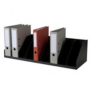 Clasificador vertical negro 9 separadores Paperflow