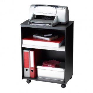 Mesa auxiliar con ruedas y 2 compartimentos Negro/Gris Paperflow