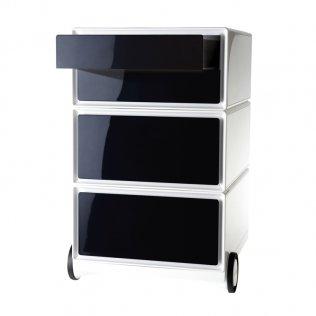 Cajonera Easy Box 4 cajones horizontales blanco/negro Paperflow