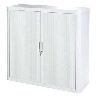 Armario Easy Office 1,04m blanco - 2 estantes Paperflow
