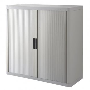Armario Easy Office 1,04m gris - 2 estantes Paperflow