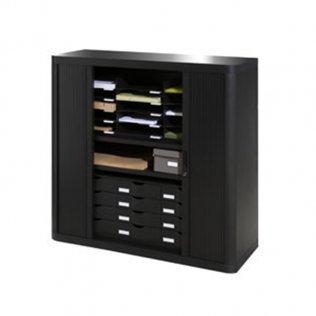 Armario Easy Office 1,04m negro - 2 estantes Paperflow