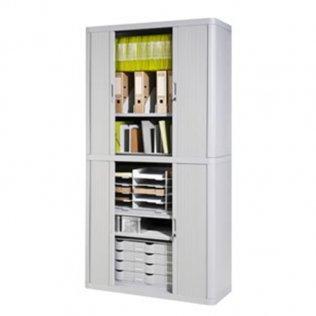 Armario Easy Office 2,04m gris - 4 estantes Paperflow