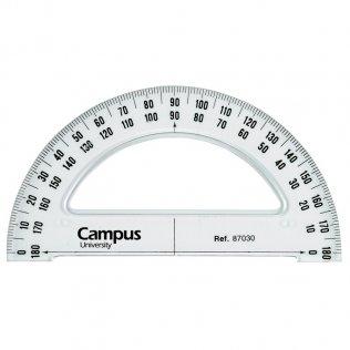 Semicírculo Campus University biselado y graduado 13cm.