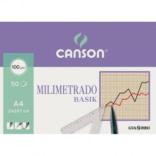 Papel milimetrado Canson A4 50h