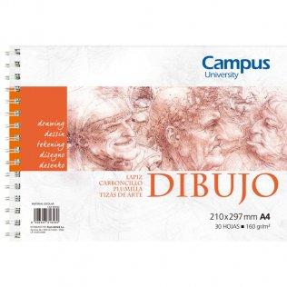 Bloc dibujo Campus University A4 160gr 30h