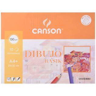 Papel dibujo Canson gama basik Minipack 10h. Recuadro A4