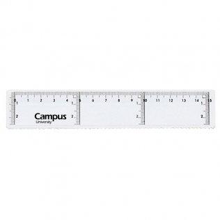 Regla Campus University de plástico especial portatodo 15cm.