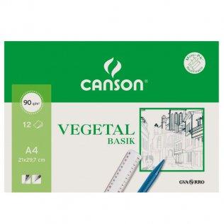 Papel vegetal Canson A4 (Mini pack.12h.)