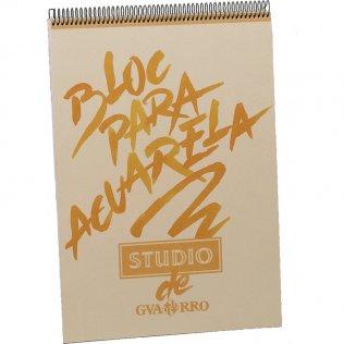 Bloc Guarro de espiral studio acuarela A3 de 40h.