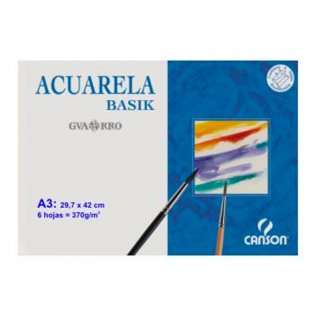 Lámina acuarela Canson Minipack 6h. 297x420 (A3+)