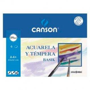 Lámina acuarela Canson Minipack 6h. 230x325 (A4+)