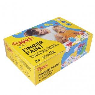 Pintura de dedos Jovi 125ml Pack 6 Colores Surtidos