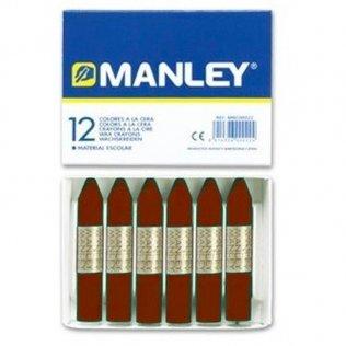 Ceras Manley tierra siena 12 unid