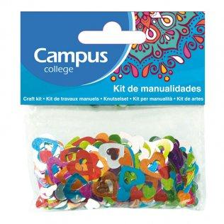 Set manualidades Campus College corazones de colores