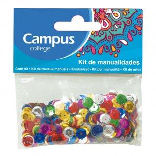 Set manualidades Campus College lentejuelas colores