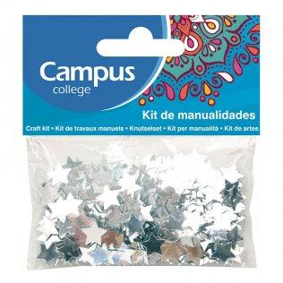 Set manualidades Campus College estrellas plata