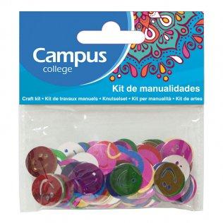 Set manualidades Campus College caras sonrientes colores