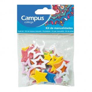Set manualidades Campus College estrellas goma EVA colores