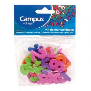 Set manualidades Campus College números goma EVA colores