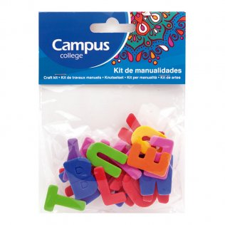 Set manualidades Campus College letras goma EVA colores