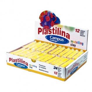 Plastilina Campus College 60gr amarillo Caja 24 barras