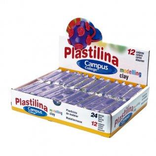 Plastilina Campus College 60gr violeta Caja 24 barras