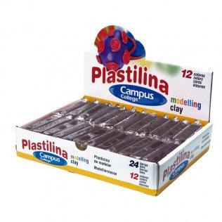 Plastilina Campus College 60gr negro Caja 24 barras