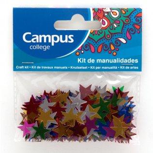 Set manualidades Campus College estrellas metalizadas