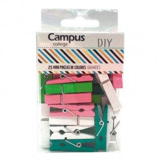Mini pinzas colores grande Campus College 25 ud
