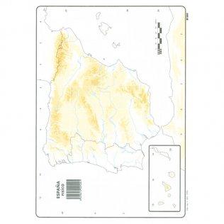Mapas Mudos España Físico