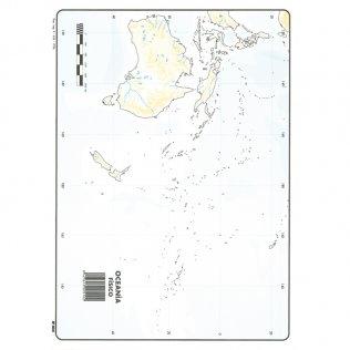 Mapas Mudos Oceania Físico