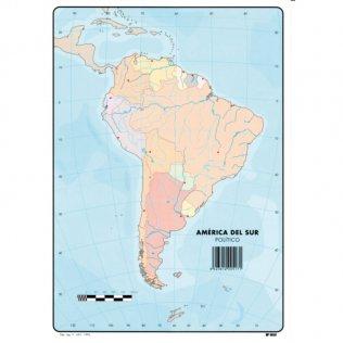Mapas Mudos América del Sur Físico
