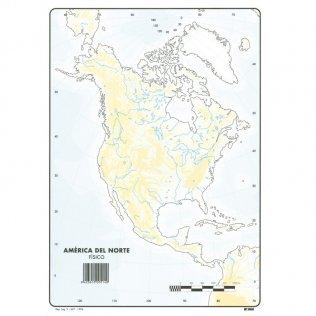 Mapas Mudos América del Norte Físico