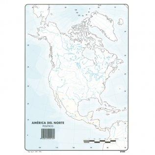 Mapas Mudos América del Norte Político