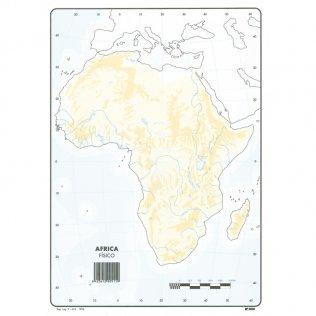 Mapas Mudos Africa Físico