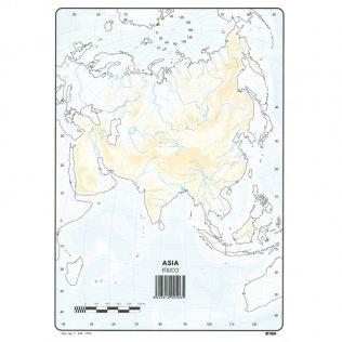 Mapas Mudos Asia Físico