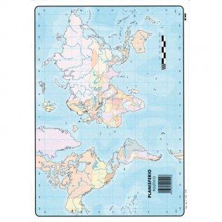 Mapas Mudos Planisferio Físico