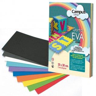 Goma Eva Campus College 2mm 12 colores 20x30 cm