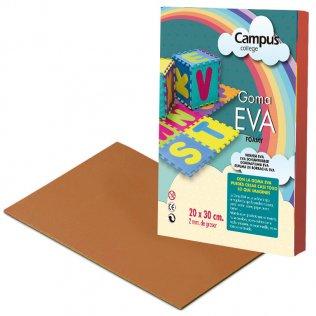 Goma Eva Campus College 2mm Marrón. 20x30 cm