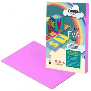 Goma Eva Campus College 2mm Rosa. 20x30 cm