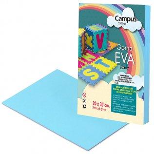 Goma Eva Campus College 2mm Azul claro. 20x30 cm