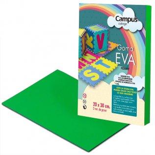 Goma Eva Campus College 2mm Verde oscuro. 20x30 cm