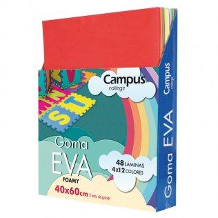 Goma Eva Campus College 40x60 2mm 12 colores
