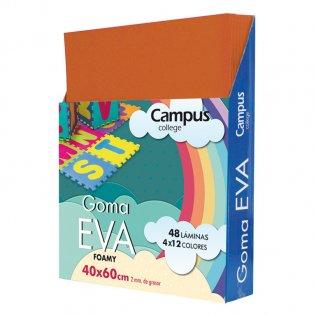 Goma Eva Campus College 40x60 2mm Marrón.
