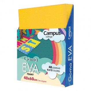 Goma Eva Campus College 40x60 2mm Amarillo.