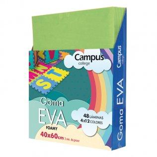Goma Eva Campus College 40x60 2mm Verde.