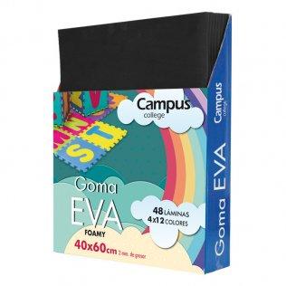 Goma Eva Campus College 40x60 2mm Negro.