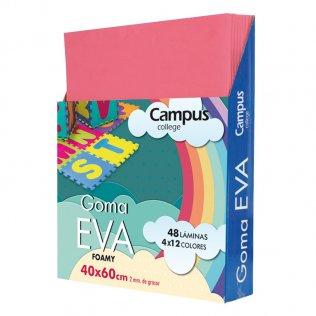 Goma Eva Campus College 40x60 2mm Rosa.